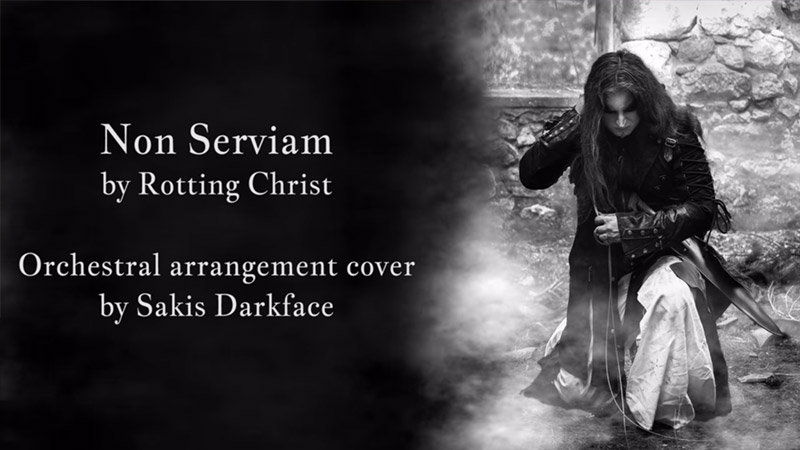 Video for Sakis Darkface (WEB) - Non Serviam Orchestral cover