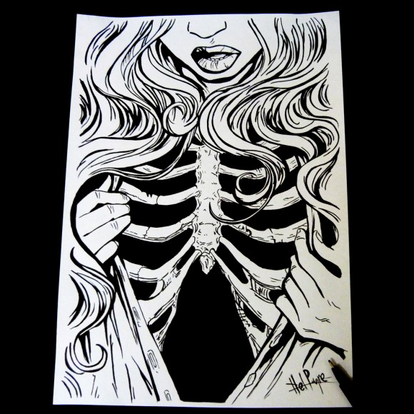 Skeleton Lady Sketch
